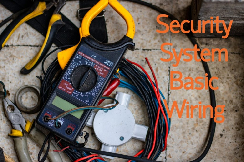 Home security alarm system installation and device wiring guide on